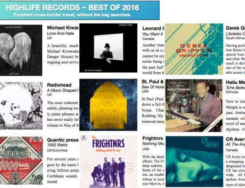 BEST OF 2016 – THE HIGHLIFE LIST